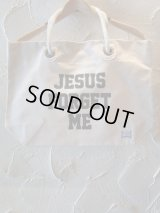 INTERFACE/JESUS FOR GET ME TOTE BAG  OFFWHITE