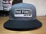 Feel FORCE/ONE&ONLY SNAPBACK  CHARCOALxBLACK