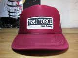 Feel FORCE/ONE&ONLY MESH CAP  BURGUNDY