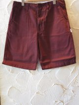 (SALE 40%OFF) INTERFACE/SATAN HAND CHINO SHORTS BURGUNDY