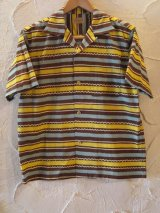 STYLE EYES/COTTON SPORT SHIRTS BORDER  BROWN