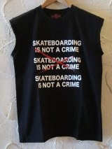 (SALE 40%OFF) SUNNY C SIDER/SKATE IS NOT CUT T  BLACK