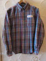 (SALE 40%OFF)SUNNY C SIDER/BD SHIRTS  BROWNxBLUE