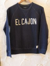 (SALE40%OFF)LATE STLICK/EMBROIDERY SWEAT  NAVY