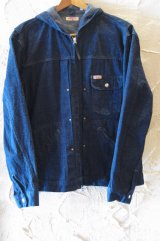 SUGAR CANE Light/11oz NEP DENIM HOODEO JKT  NAVY