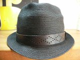 ☆SALE 50%OFF☆ SEVENTY FOUR/STRAW HAT   BLACK