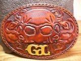 (SALE 30%OFF) GROK LEATHER/ROSE LEATHER BUCKLE  L.BROWN
