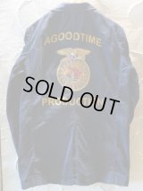A GOODTIME PRODUCTION/FFA ENGINEER JACKET COAT  AGINGNAVY