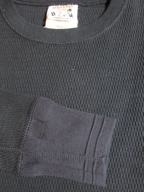 他の写真2: GLAD HAND(グラッドハンド)/STARNDARD WAFFLE L/S T-SHIRTS  BLACK