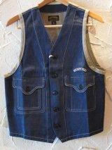 ☆SALE 50%OFF☆ SEVENTY FOUR/DENIM WORK VEST  INDIGO