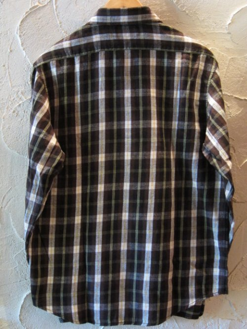 他の写真1: (DEAD STOCK)COREFIGHTER/CHECK FLANNEL SHIRTS  BROWN