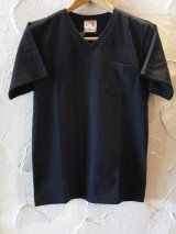 GLAD HAND(グラッドハンド)/STANDARD V NECK T-SHIRTS  BLACK