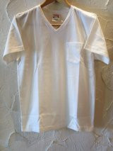 GLAD HAND(グラッドハンド)/STANDARD V NECK T-SHIRTS  WHITE