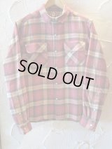 BELAFONTE/CHECK FLANNEL SHIRTS  RED