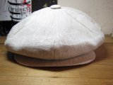 (SALE 20%OFF)NEW YORK HAT/LINEN BIG APPLE  OATMEAL