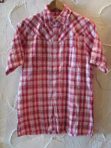 ☆SALE 62%OFF☆ INAPT/CHECK S/S SHIRT PINK