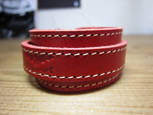 他の写真1: (SALE 40%OFF) QUITTER/LEATHER WRISTBAND  RED