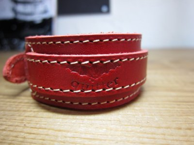画像3: (SALE 40%OFF) QUITTER/LEATHER WRISTBAND  RED