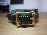 (SALE 40%OFF) QUITTER/LEATHER WRISTBAND  GREEN
