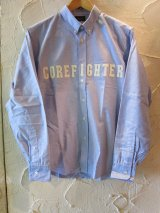 (SALE 30%OFF) COREFIGHTER/OXFORD B.D SHIRT CF PATCH  BLUE