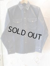 (DEAD STOCK)COREFIGHTER/SNAP BUTTON DENIM SHIRT  10ozRIDID