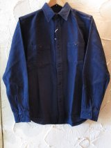 VINTAGE EL/SOLID NELL WORK SHIRT  NAVY