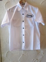 (SALE 40%OFF) SUNNY C SIDER/WORK SHIRTS  WHITE
