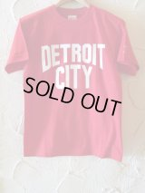 ☆SALE 50%OFF☆ AFI/DETROIT CITY PRINT T  RED