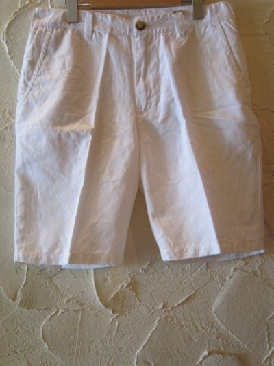 画像1: ☆SALE 50%OFF☆ JOEY/COTTON LINEN SHORTS  WHITE