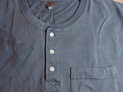 画像3: (SALE 50%OFF) JOEY/PIGMENT HENLEY POCKET T  NAVY
