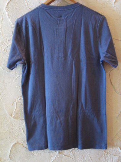 画像2: (SALE 50%OFF) JOEY/PIGMENT HENLEY POCKET T  NAVY