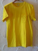 (SALE 40%OFF)JOEY/PIGMENT POCKET T  YELLOW
