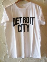 ☆SALE 50%OFF☆ AFI/DETROIT CITY PRINT T LIGHT  WHITE
