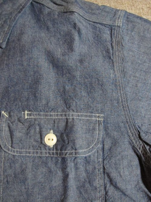 他の写真3: SUGAR CANE/BLUE CHAMBRAY L/S WORK SHIRTS NAVY