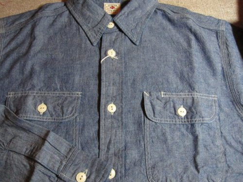他の写真2: SUGAR CANE/BLUE CHAMBRAY L/S WORK SHIRTS NAVY