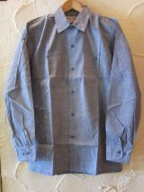 GLENN BERRY/70's DEAD STOCK CHAMBRAY SHIRTS BLUE