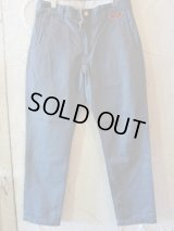 GROK LEATHER/CHINO LOSE FIT  BLUEGRAY
