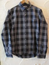 (再入荷)(SALE 40%OFF) VINTAGE EL/BLOCK CHECK SHIRTS  GRAY