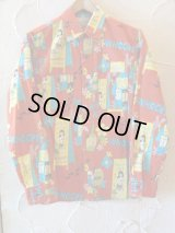 SUN SURF/ALOHA CLUB FLANNEL SHIRTS  RED