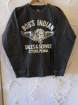 INDIAN MOTORCYCLE/BOB'S INDIAN L/S T  BLACK