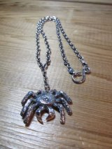 (SALE 20%OFF) INTERFACE/SPIDER PENDANT  SILVERxSILVER