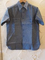 BUZZ RICKSON'S/CHAMBRAY S/S WORK SHIRTS  BLUE