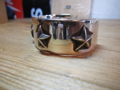 画像4: (SALE 20%OFF) ROTTWEILERxFANTASTIC MAN TOKYO/SILVER STAR BANGLE SILVER