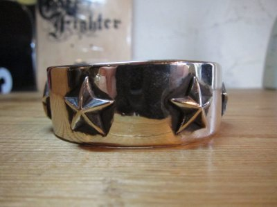 画像1: (SALE 20%OFF) ROTTWEILERxFANTASTIC MAN TOKYO/SILVER STAR BANGLE SILVER