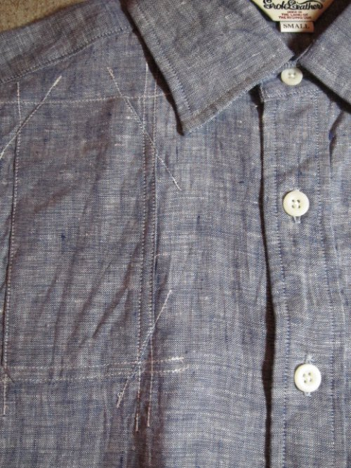 他の写真3: (SALE 35%OFF) GROK LEATHER/HUNTING SS SHIRTS  NAVY