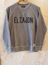 (SALE40%OFF)LATE STLICK/EMBROIDERY SWEAT  MIX.GRAY