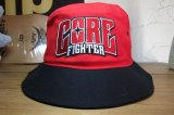 COREFIGHTER/CLIP #11 TEAM HAT  REDxBLACK