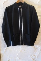 (SALE 40%OFF) COREFIGHTER/KNIT POLO CARDIGAN  BLACKxOFF.WHITE
