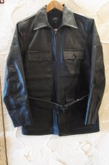 (SALE 40%OFF) RATS/40's LEATHER COAT  BLACK