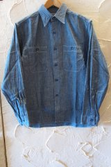 BUZZ RICKSON'S/BLUE CHAMBRAY WORK SHIRTS BLUE BR25995